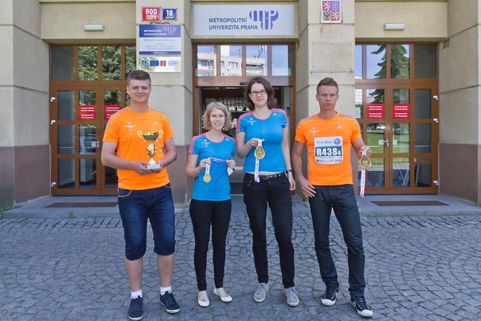 Štafeta Metropolitní univerzity Praha na Pražském maratonu 2014