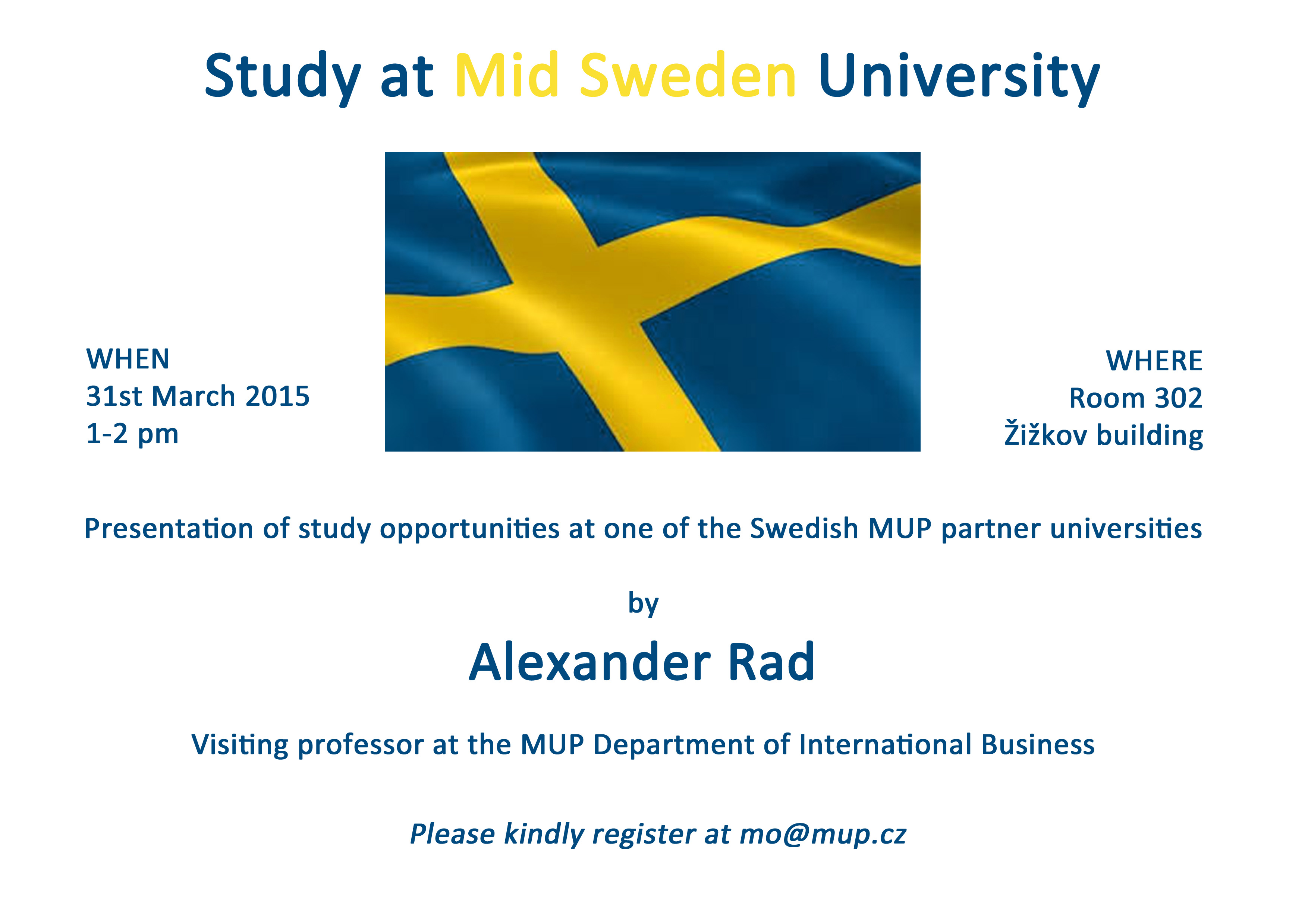 Presentation On Opportunities Of Studying At The - Mid sweden university map